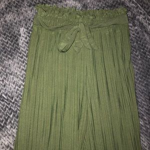 Army Green Flare Bottoms